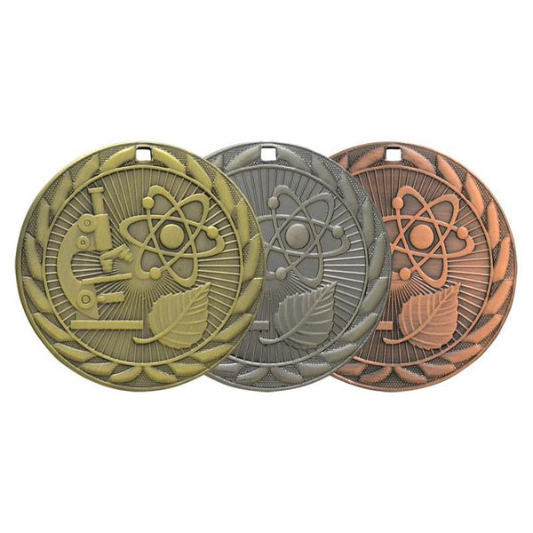 science iron medal-D&G Trophies Inc.-D and G Trophies Inc.