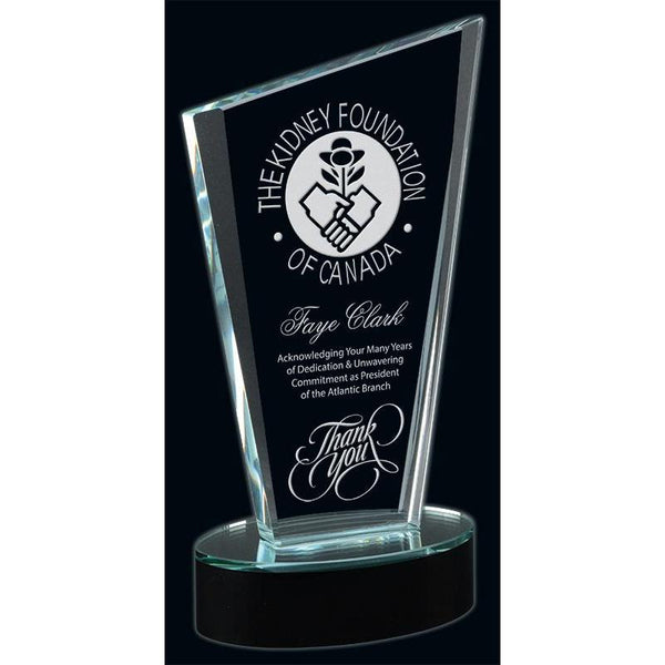Serenity Optic Crystal Award-D&G Trophies Inc.-D and G Trophies Inc.