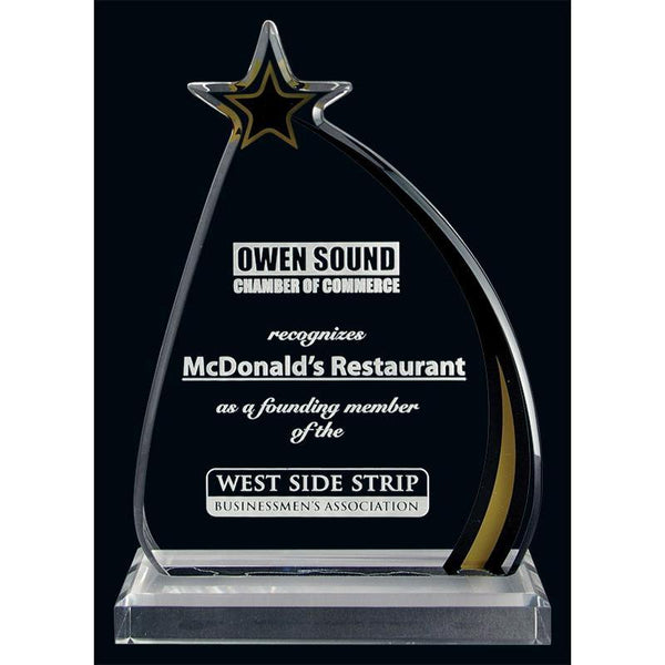 Shooting Star Acrylic Award-D&G Trophies Inc.-D and G Trophies Inc.