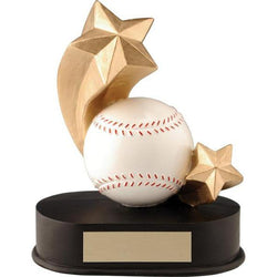 shooting star baseball resin trophy-D&G Trophies Inc.-D and G Trophies Inc.