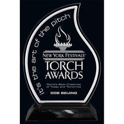 Snap-In Flame Acrylic Award-D&G Trophies Inc.-D and G Trophies Inc.