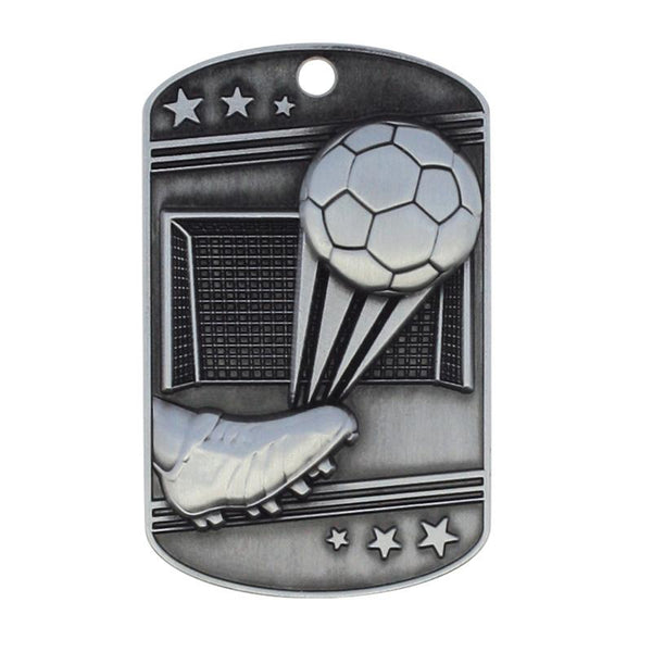 Soccer Dog Tag with Ball Chain-D&G Trophies Inc.-D and G Trophies Inc.