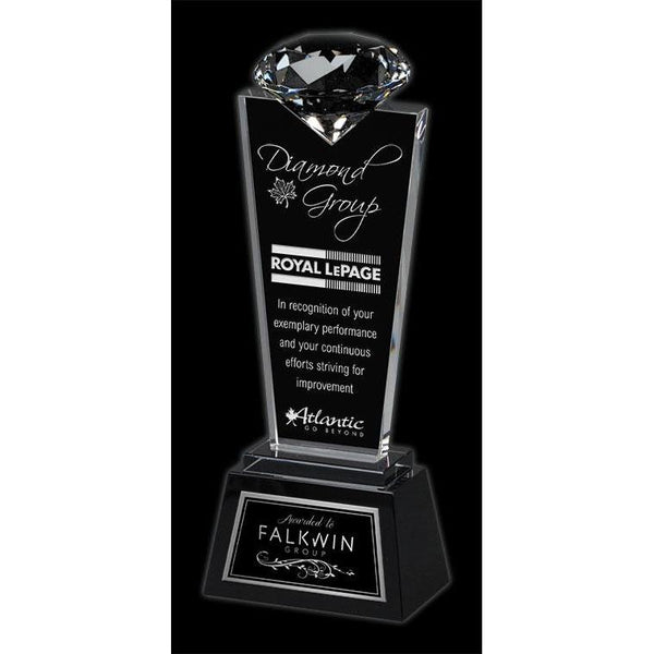 Solitaire Optic Crystal Award-D&G Trophies Inc.-D and G Trophies Inc.