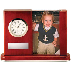 southampton rosewood clock & photo giftware-D&G Trophies Inc.-D and G Trophies Inc.