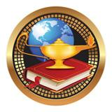 "Spectrum Insert, Lamp Of Knowledge 2""-D&G Trophies Inc.-D and G Trophies Inc."