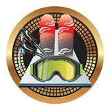 "Spectrum Insert, Skiing 2""-D&G Trophies Inc.-D and G Trophies Inc."