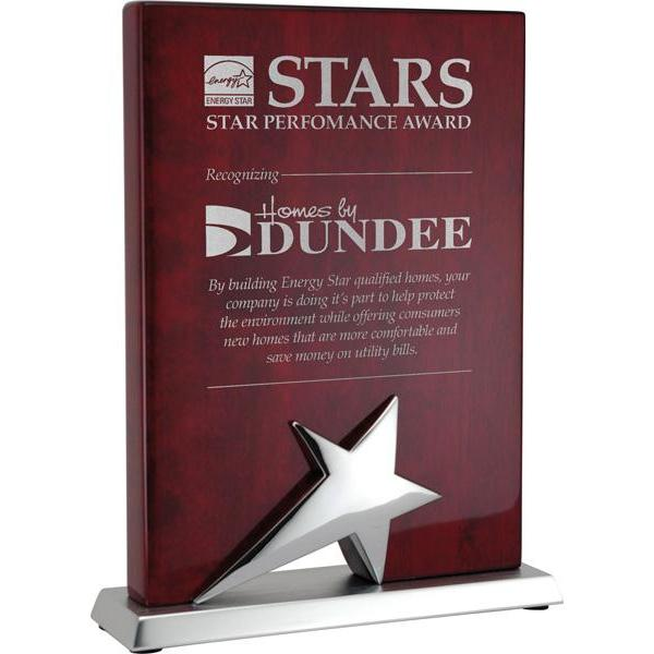 stand up rosewood star plaque giftware-D&G Trophies Inc.-D and G Trophies Inc.