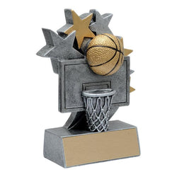 star blast basketball resin trophy-D&G Trophies Inc.-D and G Trophies Inc.