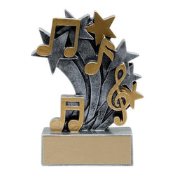 star blast music distinctive resin trophy-D&G Trophies Inc.-D and G Trophies Inc.