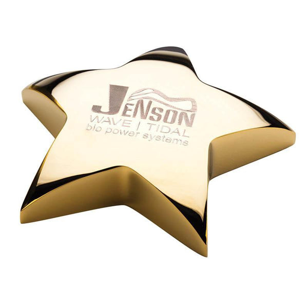 "Star Paperweight, 4.25""-D&G Trophies Inc.-D and G Trophies Inc."