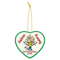 sublimated ceramic heart ornament-D&G Trophies Inc.-D and G Trophies Inc.