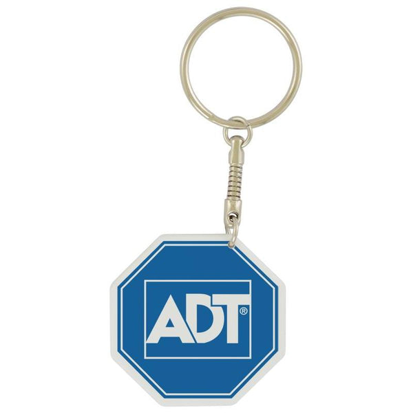 Sublimated pvc octagon key chain-D&G Trophies Inc.-D and G Trophies Inc.