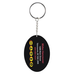 sublimated pvc oval key chain-D&G Trophies Inc.-D and G Trophies Inc.