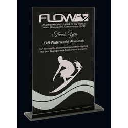 Terra Nova Black & Mirror Glass Award-D&G Trophies Inc.-D and G Trophies Inc.