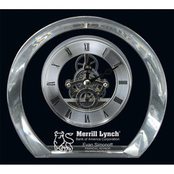 tiffany clock optic crystal-D&G Trophies Inc.-D and G Trophies Inc.