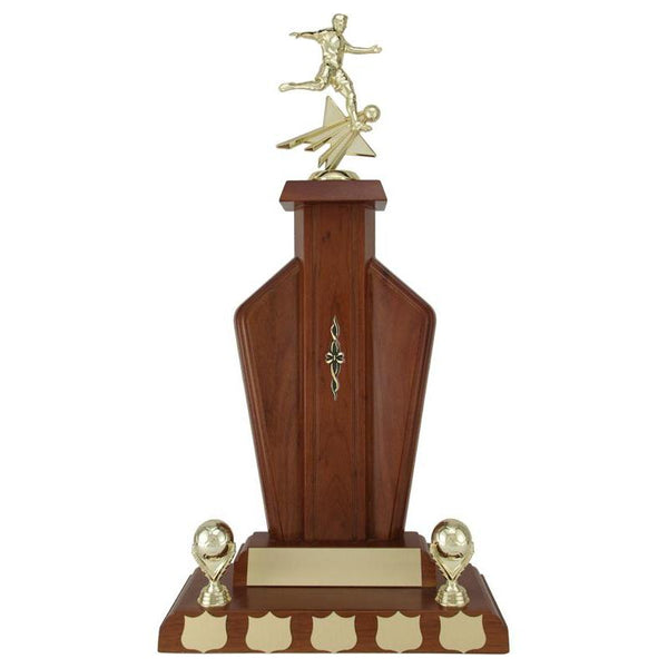 Tiverton Walnut Finish Hardwood Annual Award-D&G Trophies Inc.-D and G Trophies Inc.