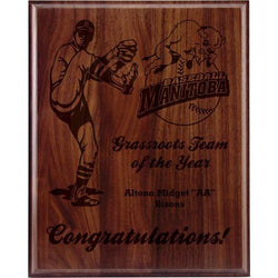 traditional bevel genuine walnut plaque-D&G Trophies Inc.-D and G Trophies Inc.