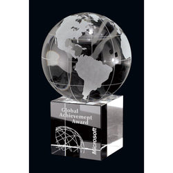 Unity Optic Crystal Globe Award-D&G Trophies Inc.-D and G Trophies Inc.