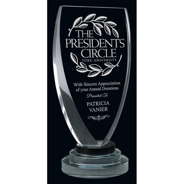 Vanity Optic Crystal Award-D&G Trophies Inc.-D and G Trophies Inc.