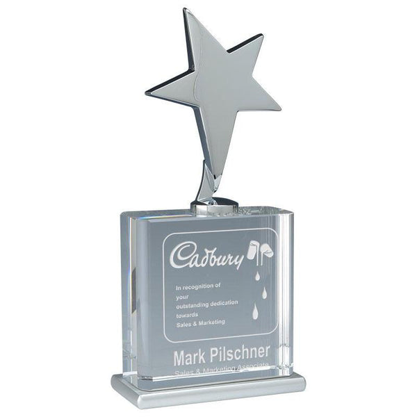 Vega Crystal Metal Star Giftware-D&G Trophies Inc.-D and G Trophies Inc.