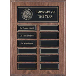 veneer annual plaque genuine walnut plaque-D&G Trophies Inc.-D and G Trophies Inc.