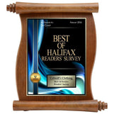 walnut finish scroll sublimated hardwood plaque-D&G Trophies Inc.-D and G Trophies Inc.