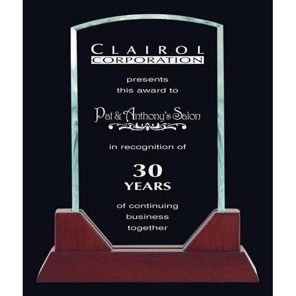 Wellington, Piano Finish Glass Award-D&G Trophies Inc.-D and G Trophies Inc.
