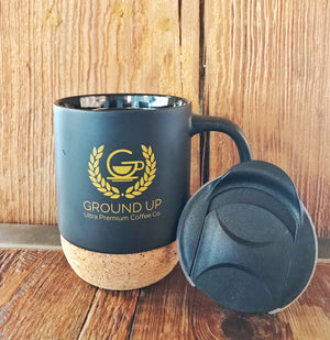 12oz Ceramic/Cork Mug w/traveller lid