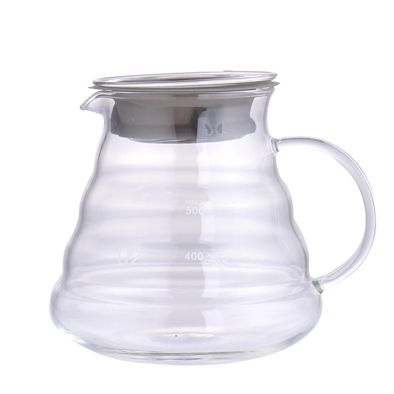 High quality glass pitcher for pour over