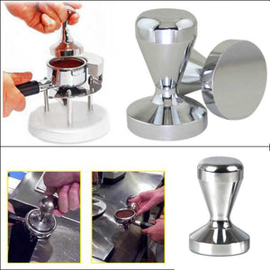 Espresso Flat Tamper 51mm Base Clear Body Stainless Steel Press