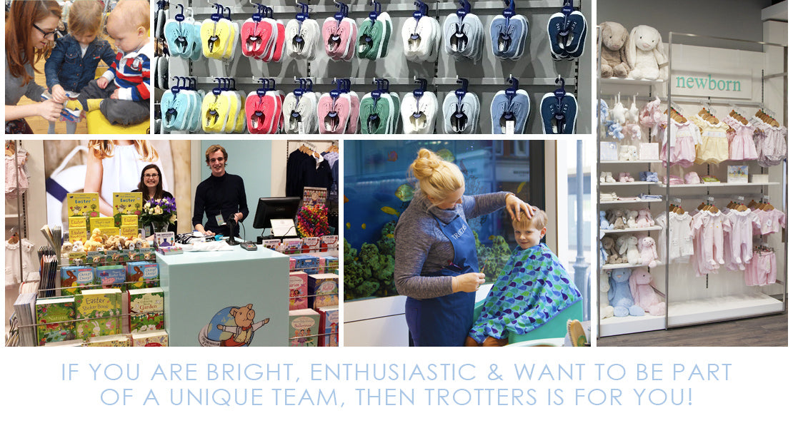 If you are bright, enthusiastic and want to be part of a unique team, then Trotters is for you!