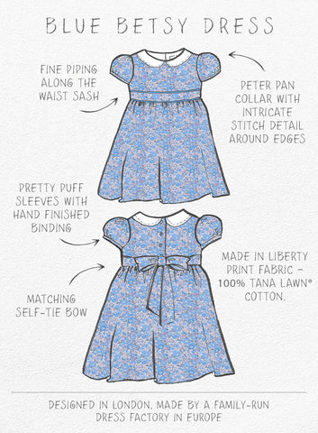 Hand Drawn Betsy Dress Details