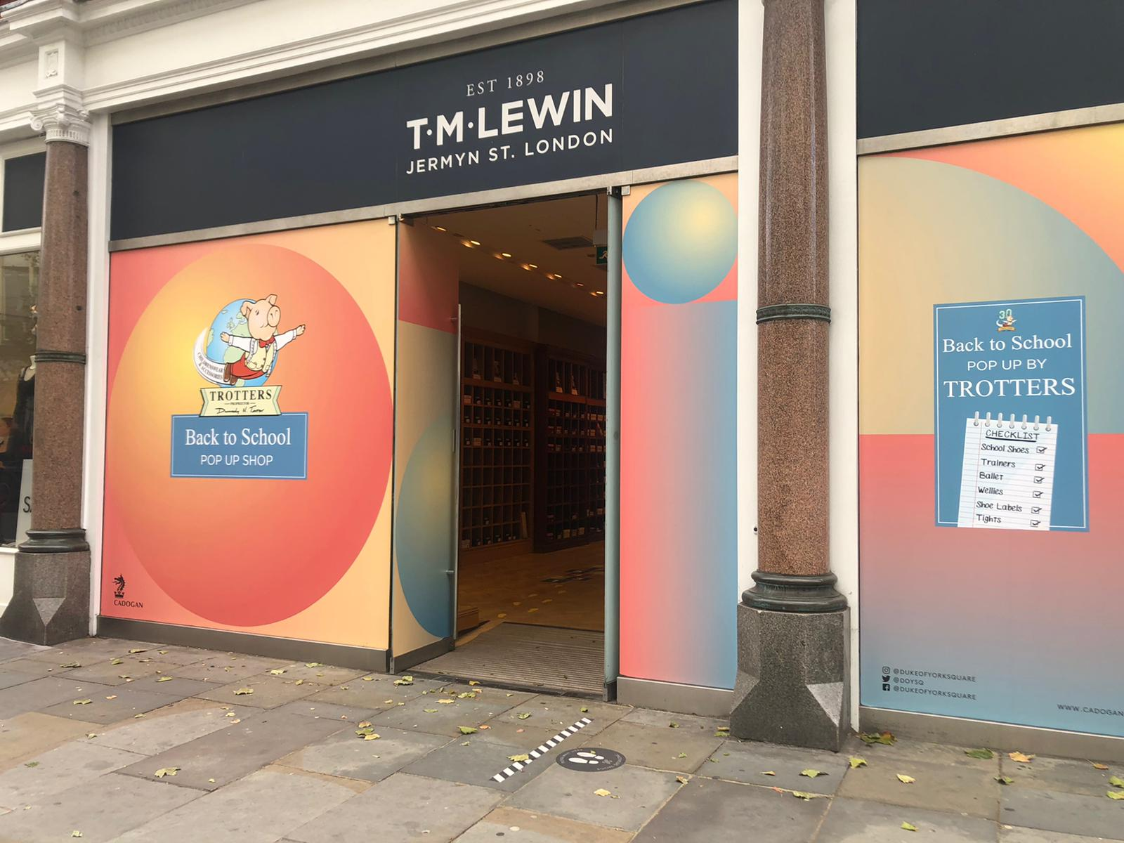 Trotters Back to School Pop Up Store, Kings Road