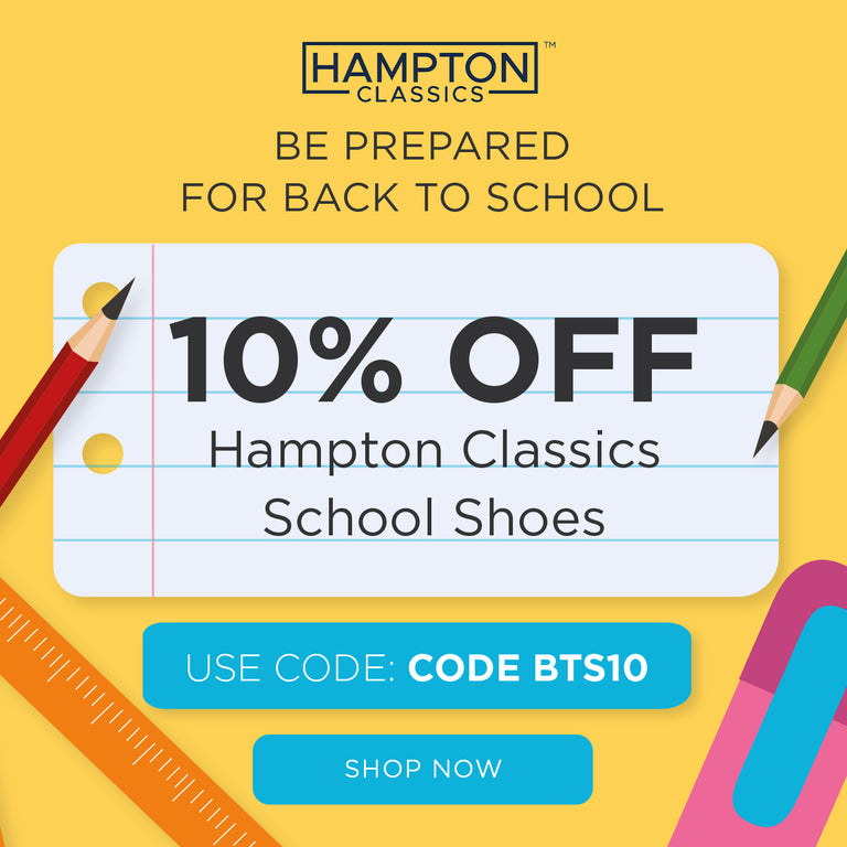 10% Off Hampton Classics School Shoes with code BTS10