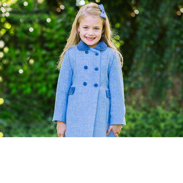 Trotters Herritage Classic Coat in Pale Blue
