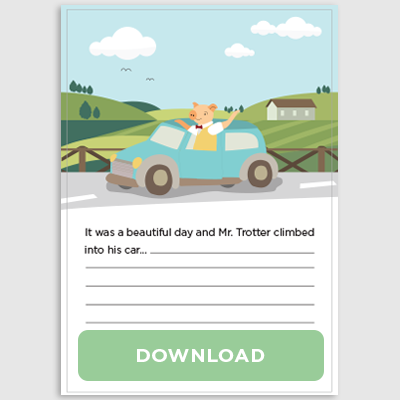 Mr Trotter Goes to the Countryside Story Telling Download Pack
