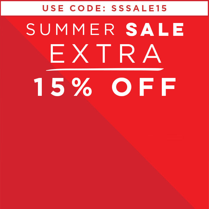 Extra 15% OFF Sale using code SSSALE15