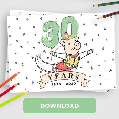 The Trotters 30th Birthday Anniversary Colouring Sheet Download