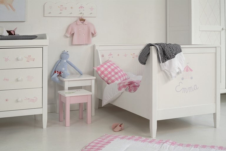Rosa Hand Painted Modern Cot Bed