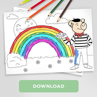 Trotters Paint the Rainbow Colouring Sheet Download