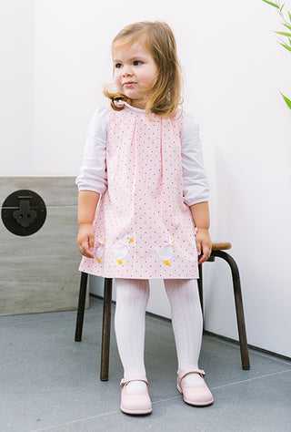 jemima spotty pinafore dress