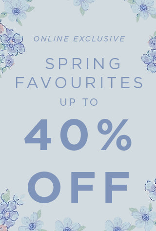 40% off selected lines