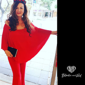 Miracle Jumpsuit - Vibrant Red