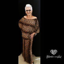 Miracle Dress Long in full Leopard Print