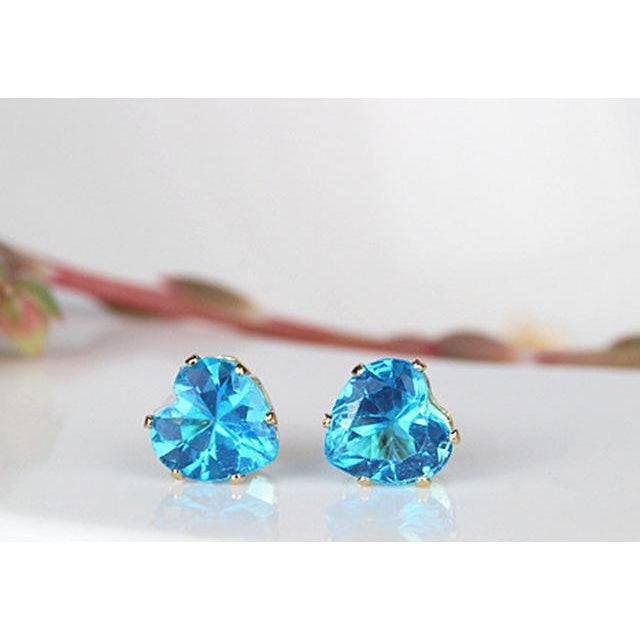 Heart 8mm Crystal Earrings with Rhinestone-99Accessory-99Accessory