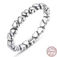 Solid Sterling Silver Heart Ring-99Accessory-99Accessory