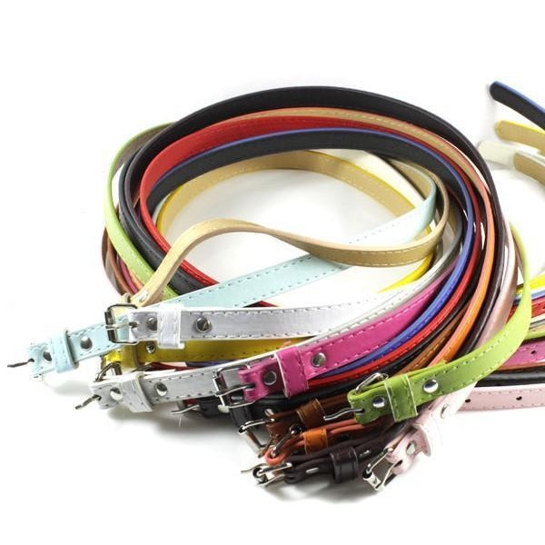 MultiColor Skinny Leather Women Belt-99Accessory-99Accessory