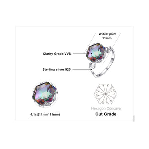 3.2ct Rainbow Fire Mystic Topaz Ring-99Accessory-99Accessory