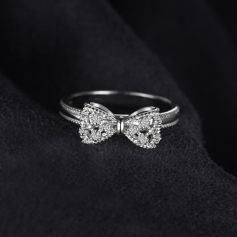 Bow Ring For Women, 925 Sterling Silver-99Accessory-99Accessory