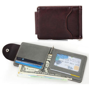 Korean clip leather men's wallets-99Accessory-99Accessory